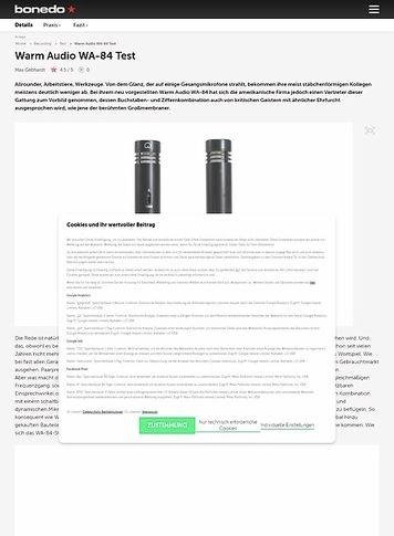 Bonedo.de Warm Audio WA-84