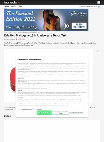 Bonedo.de Kala Red Mahogany 13th Anniversary Tenor