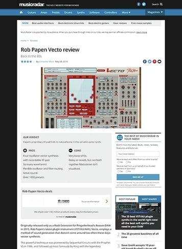 MusicRadar.com Rob Papen Vecto