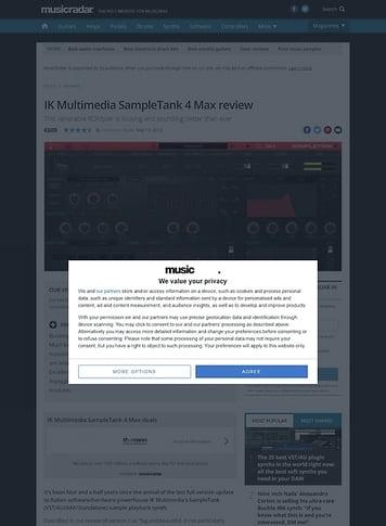 MusicRadar.com IK Multimedia SampleTank 4 Max