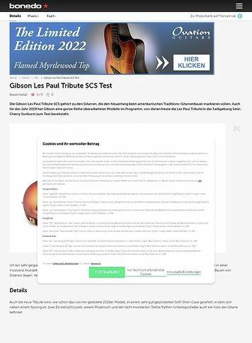 Bonedo.de Gibson Les Paul Tribute 2019 SCS