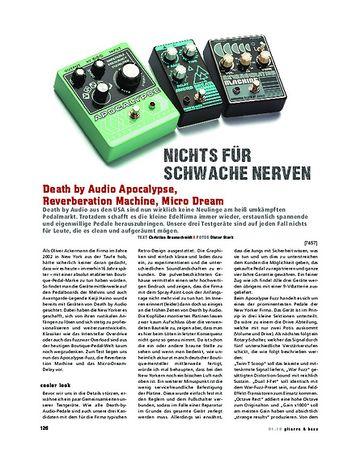 Gitarre & Bass Death by Audio Apocalypse, Reverberation Machine, Micro Dream