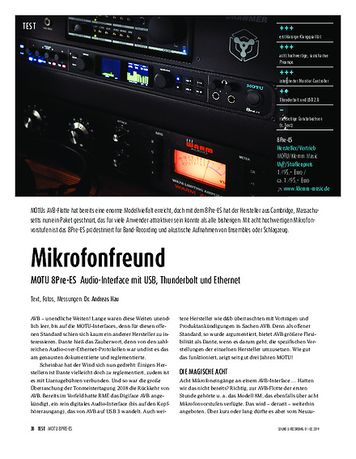 Sound & Recording MOTU 8Pre-ES