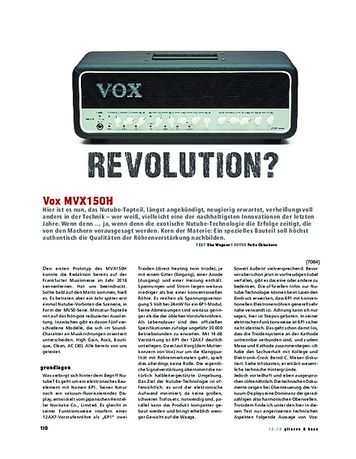 Gitarre & Bass Vox MVX150H