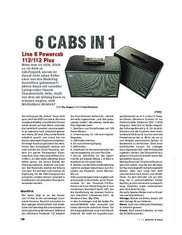 Gitarre & Bass Line 6 Powercab 112 und 112 Plus