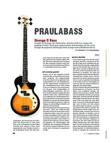 Gitarre & Bass Orange O Bass