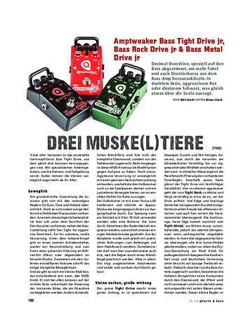 Gitarre & Bass Amptweaker Bass Tight Drive jr, Bass Rock Drive jr & Bass Metal Drive jr