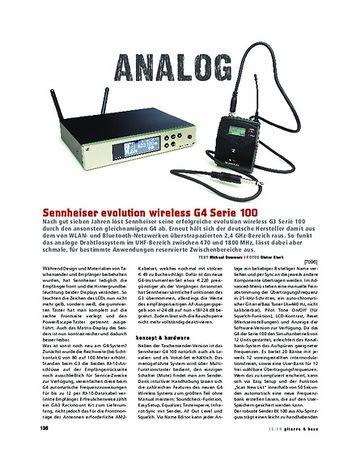 Gitarre & Bass Sennheiser evolution wireless G4 Serie 100