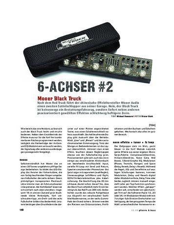 Gitarre & Bass Mooer Black Truck