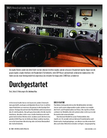 Sound & Recording Universal Audio Apollo x6