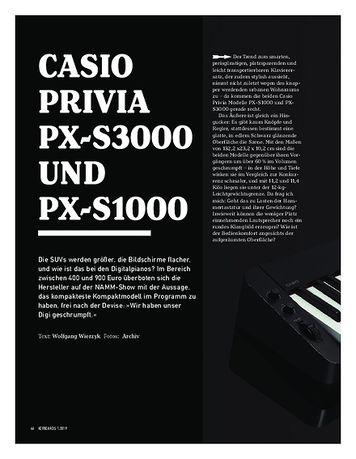 Keyboards Casio Privia PX-S3000 und PX-S1000
