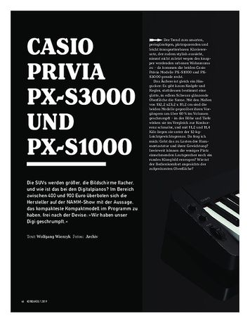 Keyboards Casio Privia PX-S3000 und PX-S1000