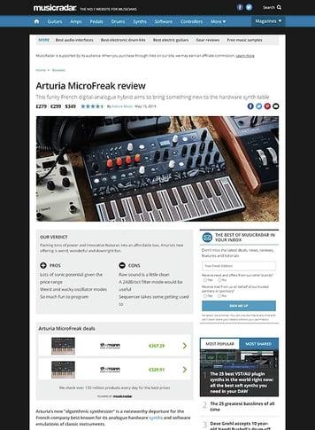 MusicRadar.com Arturia MicroFreak
