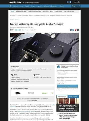 MusicRadar.com Native Instruments Komplete Audio 2