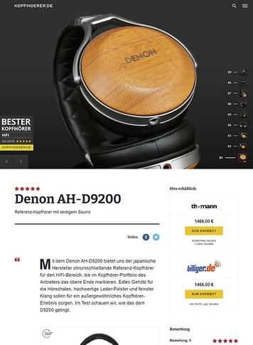 Kopfhoerer.de Denon AH-D9200