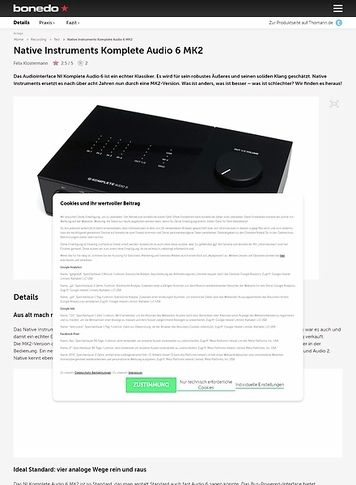 Bonedo.de Native Instruments Komplete Audio 6 MK2