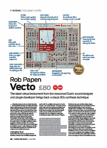 Computer Music Rob Papen Vecto