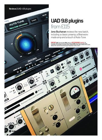 Future Music UAD 9.8 plugins
