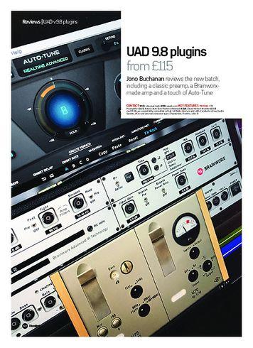 Future Music UAD 9.8 plugins