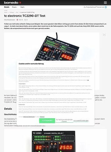 Bonedo.de tc electronic TC2290-DT
