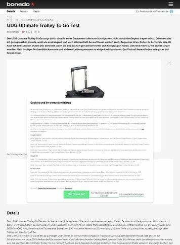 Bonedo.de UDG Ultimate Trolley To Go