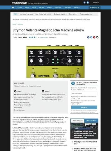 MusicRadar.com Strymon Volante
