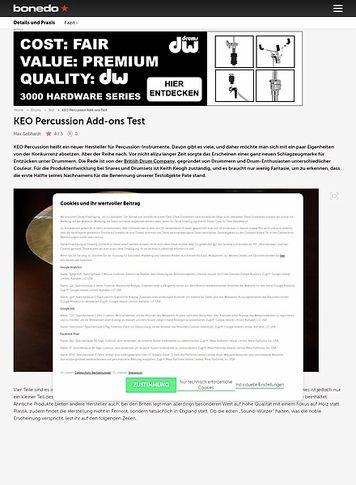 Bonedo.de KEO Percussion Add-ons