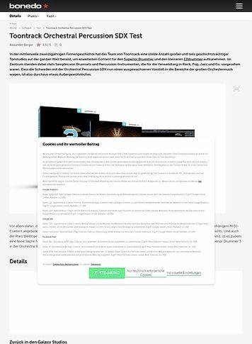 Bonedo.de Toontrack Orchestral Percussion SDX