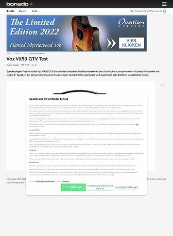Bonedo.de Vox VX50 GTV