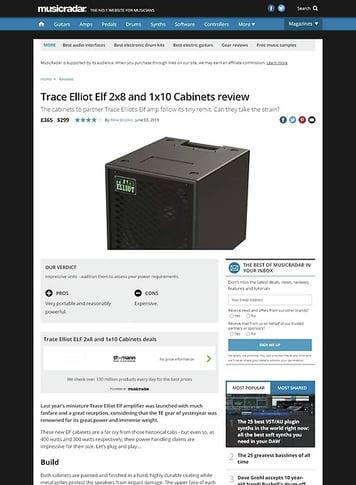 MusicRadar.com Trace Elliot Elf 2x8 and 1x10 Cabinets