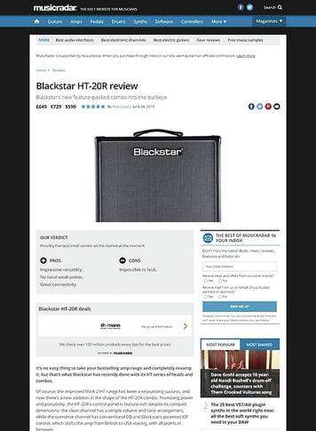 MusicRadar.com Blackstar HT-20R