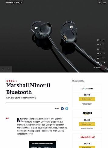 Kopfhoerer.de Marshall Minor II Bluetooth Black