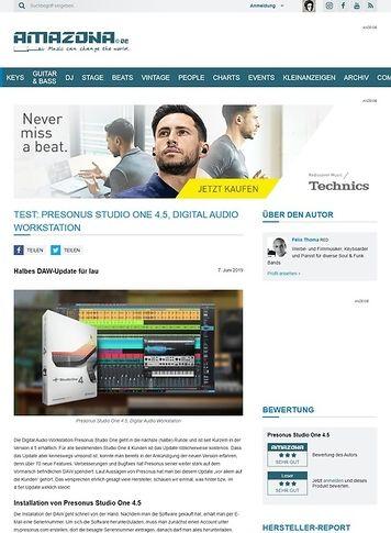 Amazona.de Presonus Studio One 4.5