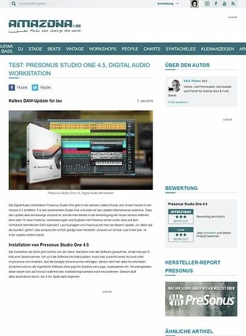 Amazona.de Presonus Studio One 4.5