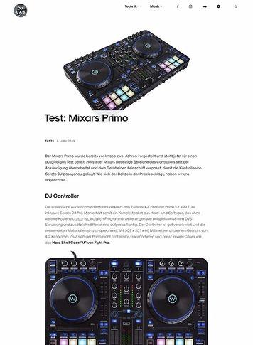 DJLAB Test: Mixars Primo