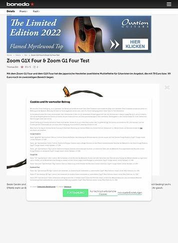 Bonedo.de Zoom G1X Four & Zoom G1 Four