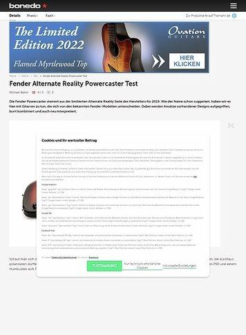 Bonedo.de Fender Alternate Reality Powercaster