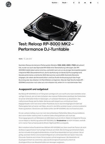 DJLAB Reloop RP-8000MK2