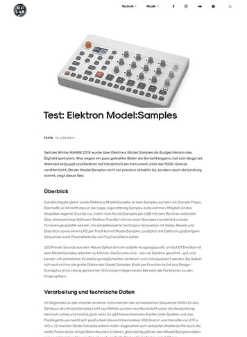 DJLAB Elektron Model:Samples