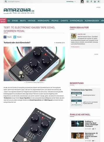 Amazona.de TC Electronic Gauss Tape Echo