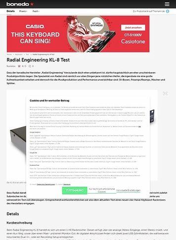 Bonedo.de Radial Engineering KL-8