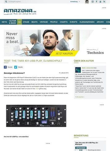 Amazona.de the t.mix 401-USB Play