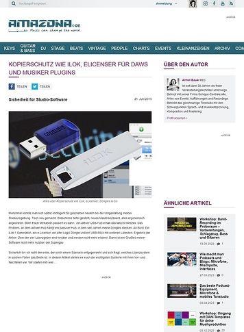 Amazona.de Alles über Kopierschutz wie iLok, eLicenser, Dongles & Co