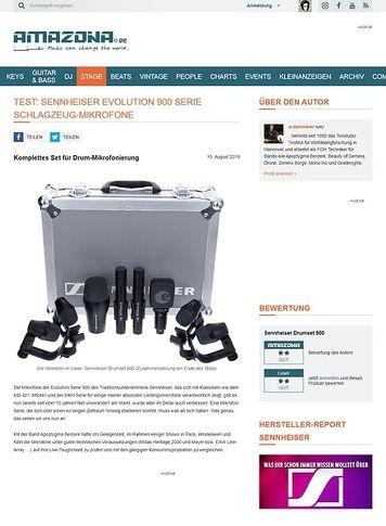 Amazona.de Test: Sennheiser Evolution 900er Serie