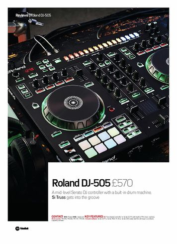 Future Music Roland DJ-505