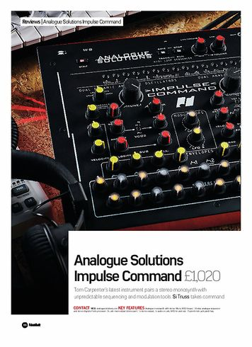 Future Music Analogue Solutions Impulse Command