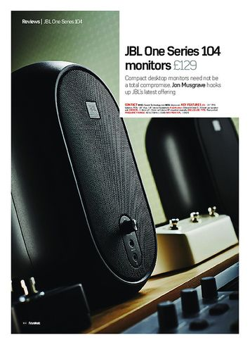 Future Music JBL One Series 104