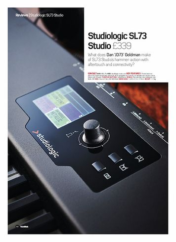 Future Music Studiologic SL73 Studio