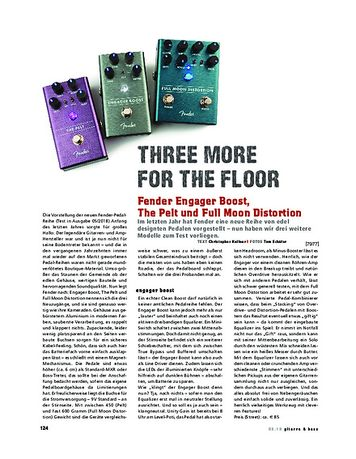 Gitarre & Bass Fender Engager Boost, The Pelt und Full Moon Distortion