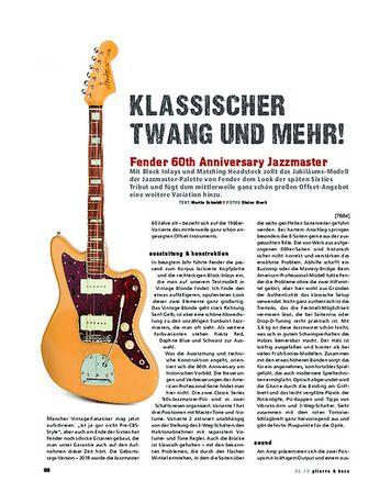 Gitarre & Bass Fender 60th Anniversary Jazzmaster